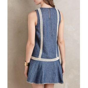 Anthropologie Dresses - Anthropologie Holding Horses Denim Crochet Dress